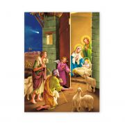 Nativity 19 X 27 inch Italian Gold Embossed Poster (2 Pack)
