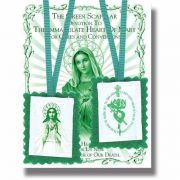 "2"" Green Scapular with Instruction Pamphlet (24 Pack)"