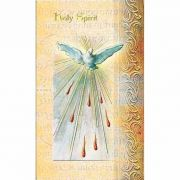 2 Page Biography Holy Card Of The Holy Spirit (20 Pack)