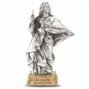 4 1/2 inch Saint James The Greater Pewter Statue On Base