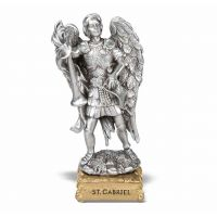 """4"""" Pewter Statue St. Gabriel Gift Boxed"""