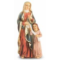 """4"""" St. Anne Hand Painted Solid Resin Statue - (Pack Of 2)"""