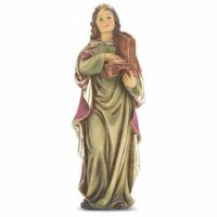 """4"""" St. Cecilia Hand Painted Solid Resin Statue - (Pack Of 2)"""