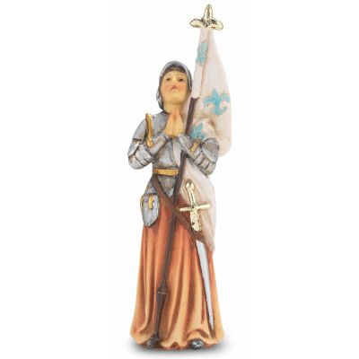 """4"""" St. Joan Of Arc Hand Painted Solid Resin Statue - (Pack Of 2) -  - 1735-967"""