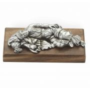 "4"" St. Joseph Sleeping Pewter Statue Gift Boxed"