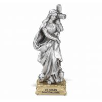 """4"""" St. Mary Magdalene Pewter Statue Gift Boxed"""