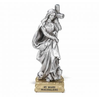 """4"""" St. Mary Magdalene Pewter Statue Gift Boxed -  - 1799-496"""