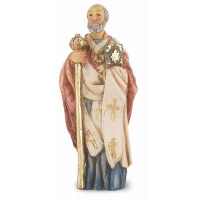 """4"""" St. Nicholas Hand Painted Solid Resin Statue - (Pack Of 2) -  - 1735-508"""
