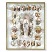 Mysteries Of The Holy Rosary Gold Framed Everlasting Plaque (2 Pack)
