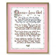 Prayer For A Little Girl 8x10 Gold Framed Everlasting Plaque (2 Pack)