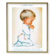 Praying Boy 8x10 inch Gold Framed Everlasting Plaque (2 Pack)