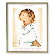 Praying Girl 8x10 inch Gold Framed Everlasting Plaque (2 Pack)