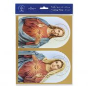 The Sacred Hearts 8 inch x 10 inch Print (3 Pack)
