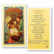 A Christmas Blessing Laminated 2 x 4 inch Holy Card (50 Pack)