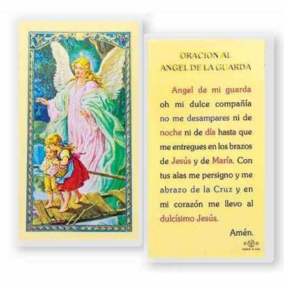 Angel De La Guarda-del Puente 2 x 4 inch Holy Card (50 Pack) - 846218017306 - S24-350