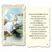 Baptism 2 x 4 inch Holy Card - (Pack of 50)