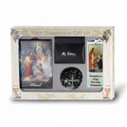(Blessed Trinity) 6 Piece Deluxe First Communion Gift Set Black