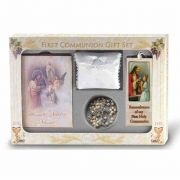 (Blessed Trinity) 6 Piece Deluxe First Communion Gift Set White