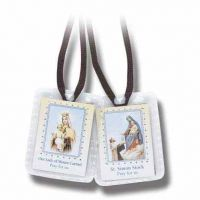 Brown Scapular With Brown Cords (24 Pack)