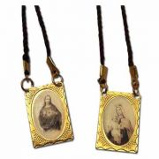 Gold Metal Petina Scapular On Cord (12 Pack)