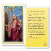 Good Morning God Laminated 2 x 4 inch Holy Card (50 Pack)