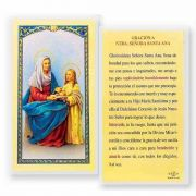 Oracion A N.s. Santa Ana 2 x 4 inch Holy Card (50 Pack)