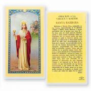 Oracion A Santa Barbara Virgen 2 x 4 inch Holy Card (50 Pack)