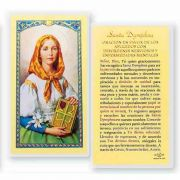 Oracion A Santa Dymphna 2 x 4 inch Holy Card (50 Pack)