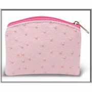 Pink Ostrich Skin Pattern Rosary Pouch - (Pack Of 4)