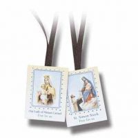 Plain Scapular w/Brown Cords (24 Pack)