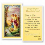 Prayer To Guardian Angel - Girl 2 x 4 inch Holy Card (50 Pack)