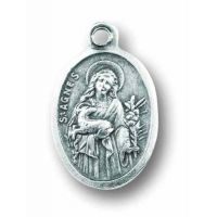 Saint Agnes Oxidized Medal (Pack of 25)