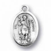 Saint Expedite Silver Oxidized Medal (25 Pack)