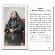 Saint Frances Xavier Cabrini 2 x 4 inch Holy Card - (Pack of 100)