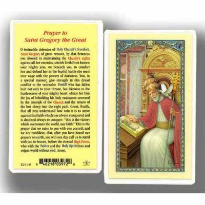 Saint Gregory The Great Prayer Holy Card - (Pack Of 31) - 846218039728 - E24-443