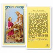 Saint Joseph - Patron Of Workers 2 x 4 inch Holy Card (50 Pack)
