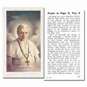 Saint Pius X 2 x 4 inch Holy Cards - (Pack of 100)