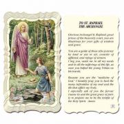 Saint Raphael The Archangel - 2 x 4 inch Holy Card - (Pack of 50)
