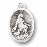 Saint Rocco Silver Oxidized Medal (25 Pack)