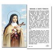 Saint Theresa Holy Card spanish prayer on back