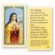 Saint Therese 2 x 4 inch Holy Card (50 Pack)