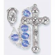 Sapphire Aurora Borealis Ladder Rosary
