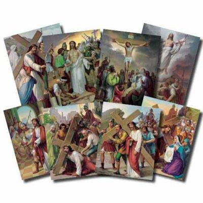 Stations Of The Cross Poster 8 x 10 inch - 846218009806 - POS-1470