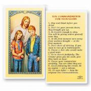 Ten Commandments Teenagers 2 x 4 inch Holy Card (50 Pack)