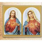 The Sacred Hearts 8x10in. Gold Framed Everlasting Plaque (2 Pack)