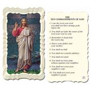 The Ten Commandments Holy Card - (Pack of 50)