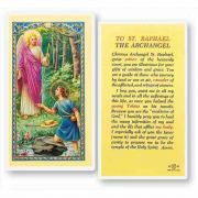 To Saint Raphael The Archangel 2 x 4 inch Holy Card (50 Pack)