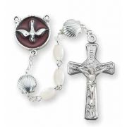 White Oval Pearlized Beaded RCIA Rosary