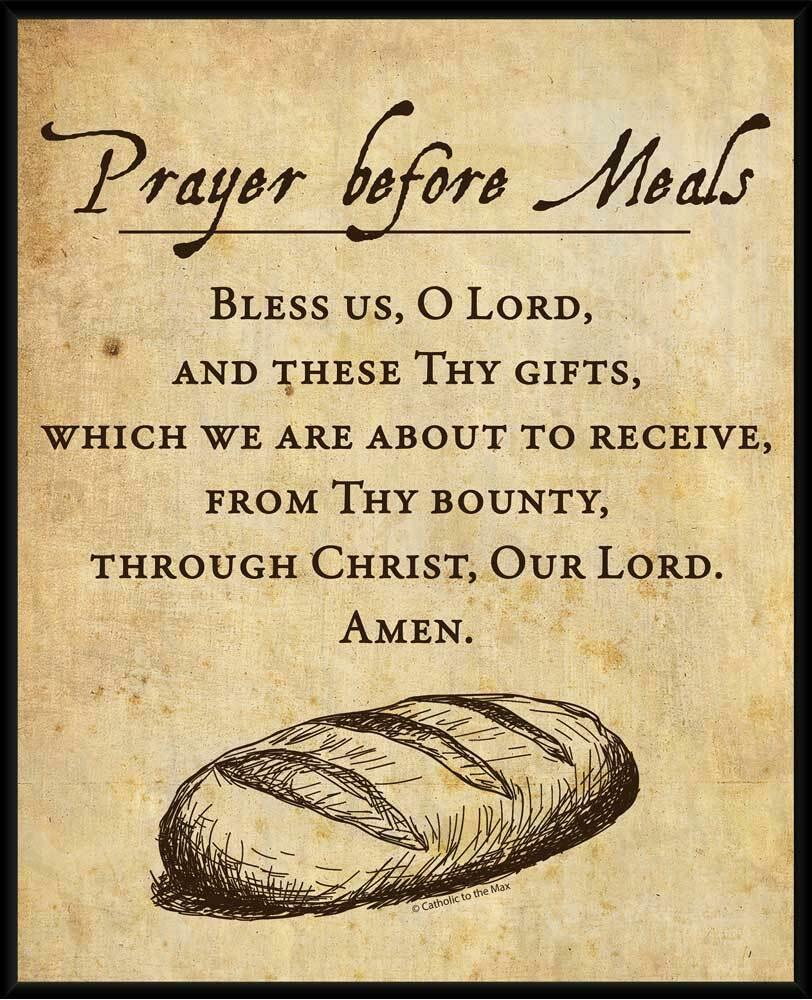 Wall Art Prints Posters Prayer Before Meals Wall Plaque